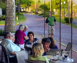 Outdoor Dining (Photo by Robb DeCamp)